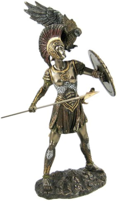 Athena Greek Goddess Bronzed Statue Sculpture Minerva