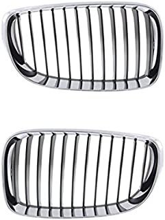 Partomotive For 08-13 1-Series 2-Door Coupe/Convertible Grille Grill Left & Right Side SET PAIR