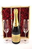 Heidsieck & Co Monopole Gold Top Champagne 2011 with Two Riedel Champagne Flutes