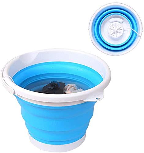 Mini Faltwaschmaschine mit Faltwanne, geräuscharm aktualisierte Mini Turbo Waschmaschine Tragbare Reinigungsmaschine, Automatische Klappwaschmaschine 10L Mit Fernbedienung für Reise DEZHU Momoxi MOIX