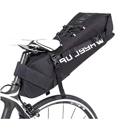 Fietszadeltas, 10L fietspakketten Fietsrugzak Onder Zitzak Staart Zadel Achterzak Pannier Fietsen Opbergtas voor Outdoor Mountain Road MTB Bike met Rolbare Opening en Reflecterend Logo