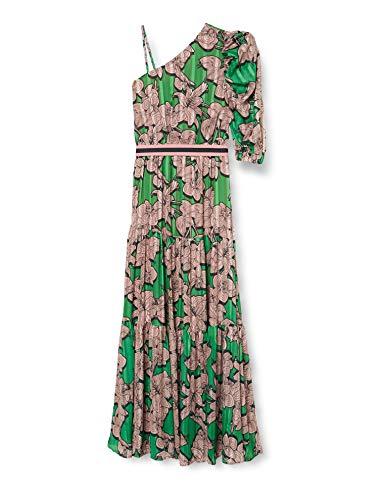 Silvian Heach Long Dress Lower(MB) Vestito Elegante, Verde (F.Viridis F.Viridis), Large (Taglia Produttore:L) Donna