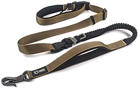 TSPRO Hands Free Dog Leash for Walking Running with Safety Car Seat Belt Shock Absorbing Bungee product image