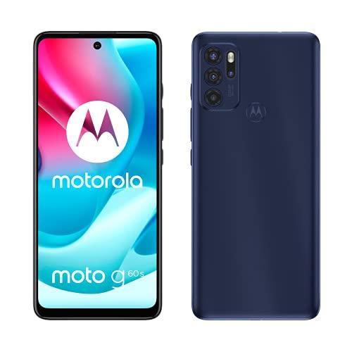 Motorola moto g60s (Quad Camera 64 MP, Display FullHD+ 6.8' 120 Hz, batteria 5000 mAH, Dual SIM, 6/128GB, Android 11), Ink Blue, cover inclusa
