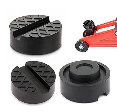 Jack Pad Universal Black Rubber Slotted Floor Jack Pad Frame Rail Adapter Pinch Weld 3 Pack
