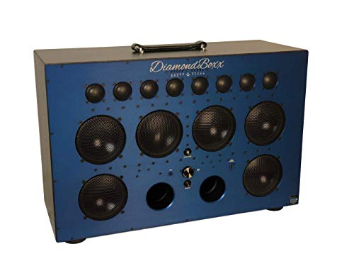 DiamondBoxx Model XL2 Blue - The Biggest Bass in Wireless Audio Portable Bluetooth Speaker Loud Clear with 1000 Watts Output, 20 Hours per Charge, 12 amplifiers for 0 Distortion and 4 subwoofers