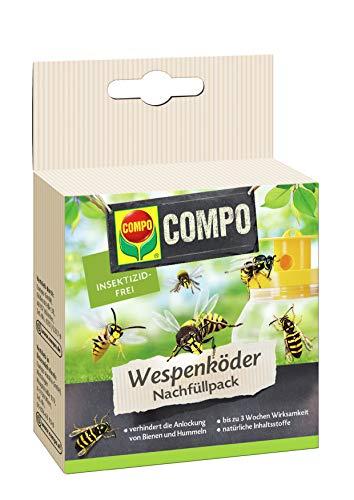 COMPO Wespenfallen Köder-Nachfüllpack, Wasserlösliche Köderbeutel, 3 Stück