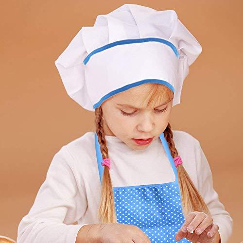 NIWWIN Kochset für Kinder, 11-TLG. Kochspielset Kinderküche Rollenspielsets für Jungen Mädchen Kleinkind-Rollenspiel Koch- und Backset mit Schürze, Kochmütze, Utensilien, Kochhandschuh - 4