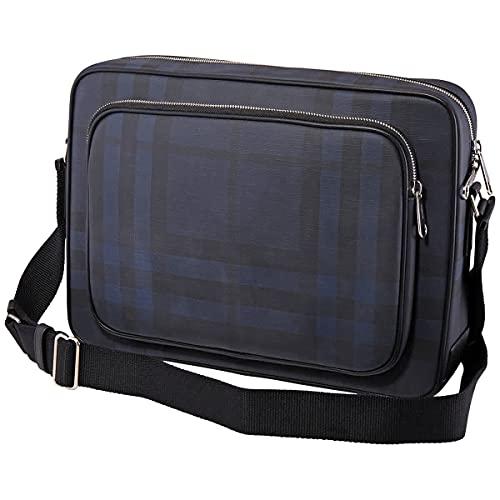 Burberry London Check Messenger Bag In Navy/black