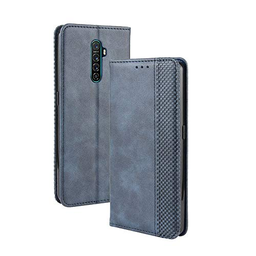 FANFO® Hülle für Oppo Reno Ace/Realme X2 Pro HandyHülle, Premium PU Leder Tasche Magnetverschlüsse Schutzhülle Flip Wallet Klapphülle Folio Book Style Hülle Cover, Blau