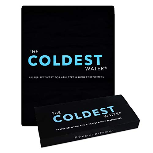 """The Coldest Ice Pack Large Flexible Gel Ice Pack, Specific for Cold Therapy - Ice Pack for Back Leg Sprains, Muscle Pain, Bruises, Injuries - 11"""" x 14"""" (Black)…"""