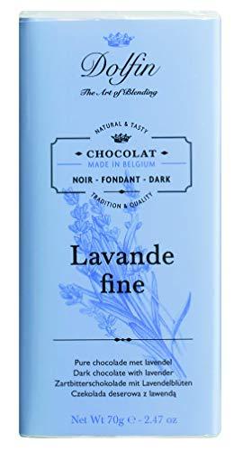 Dolfin Zartbitterschokolade, mit Lavendel und Vanille, 70 g