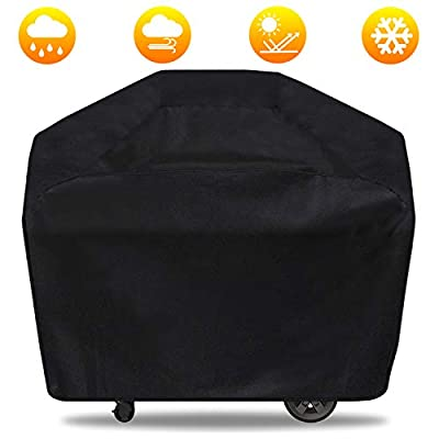 Gas Grill Cover, 65 inch BBQ Grill Cover Durable, Waterproof Large Grill Covers Outdoor, All Weather & UV-Resistant Barbecue Cover for Most Weber, Brinkmann, Charbroil, Holland, Jenn Air, Nexgrill