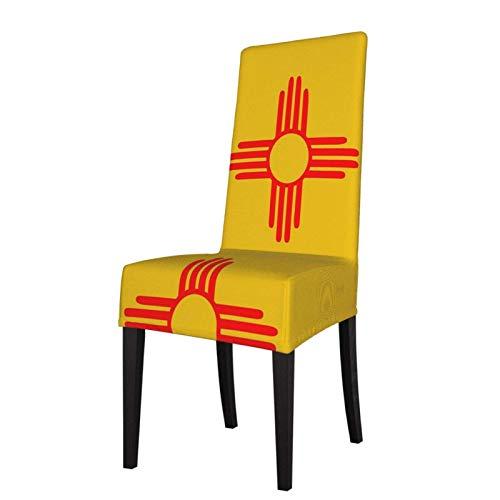 Funda protectora para silla de comedor de México Zia Sun, extraíble, lavable, suave, elástica, para casa, cocina, restaurante, fiesta, color negro