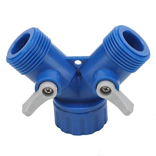 Sharainn Accesorios de Conector, Distribuidor de Adaptador de Conector ABS en Y Shpaed, Accesorio de Manguera de Agua para jardín doméstico(Sell 1)