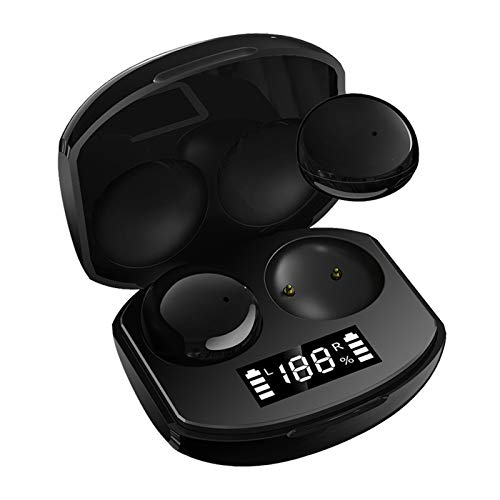 Audífonos inalámbricos Bluetooth 5.0, Smart Touch In-ear Auriculares con micrófono para deportes al aire libre, mini y portátiles inalámbricos auriculares con funda de carga y pantalla LED