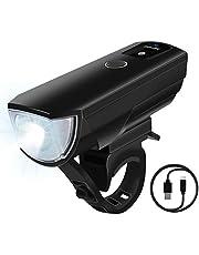 【2018最新版】 自転車 ライト 自転車ヘッドライト 防水 自動点灯 高輝度LED 4段階調節可能 USB充電式 2000mAh 自動明度調節 防振防災 小型 取り付け簡単