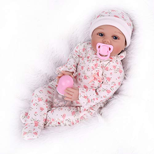 22 Inch Reborn Baby Dolls Lifelike Weighted Baby Reborn Dolls Girl Handmade Adorable Real Baby Dolls for Age 3+