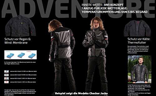 Modeka Motorradhose Striker schwarz, K3XL