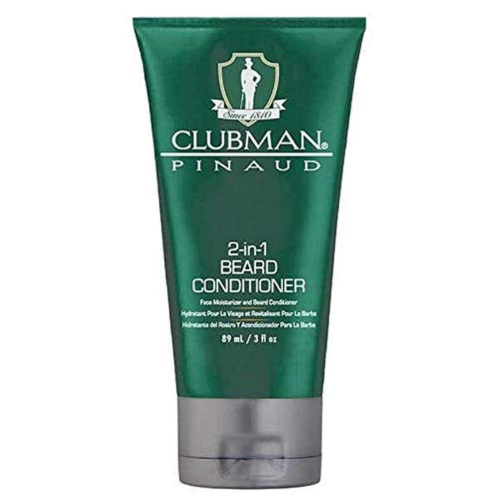 バイソンの慈悲で群衆[Clubman ] クラブマン2-In-1髭コンディショナー89ミリリットル - Clubman 2-in-1 Beard Conditioner 89ml [並行輸入品]