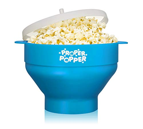 Best Buy! The Original Proper Popper Microwave Popcorn Popper, Silicone Popcorn Maker, Collapsible B...