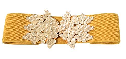 BRANDELIA Cinturón elástico mujer fiesta estilo cordón de seda para combinarlo con vestidos, faldas o pantalones