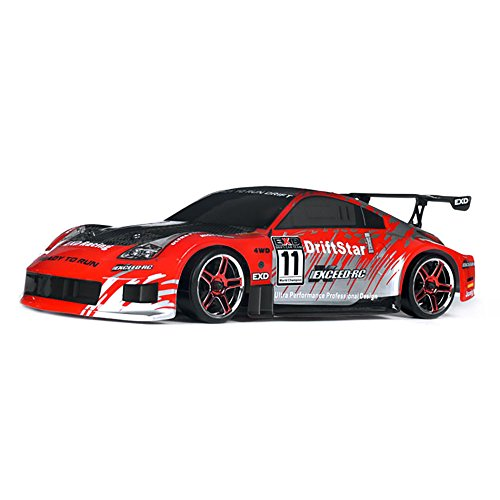 Exceed RC 1/10 2.4Ghz Electric DriftStar RTR Drift Car 350 Carbon Red Version