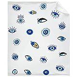Todeyya Evil Eye Pattern Throw Blanket - Super Soft Flannel Fleece Blanket with Teen Girls, Plush Lightweight Fuzzy Cozy Blanket Microfiber for Couch S 50'X40' for Kid