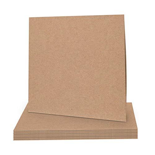 CD Stecktasche, 12 cm, Kraftkarton 225 g/m², braun, unbedruckt, Leerhülle - 25 Stück/Pack