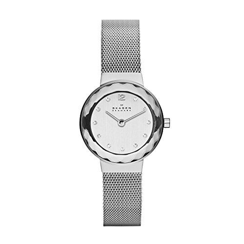 Skagen Women's Leonora Quartz Analog Stainless Steel and Watch, Color: Silver (Model: 456SSS)