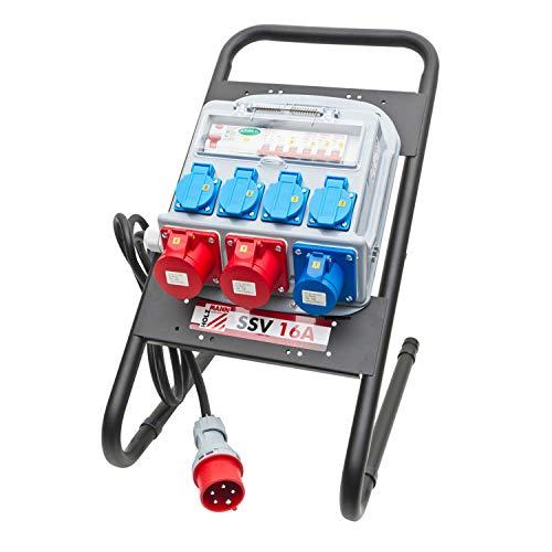 Cuadro electrico de obra stand de distribucion portatil SSV16A Holzmann 380V 16A