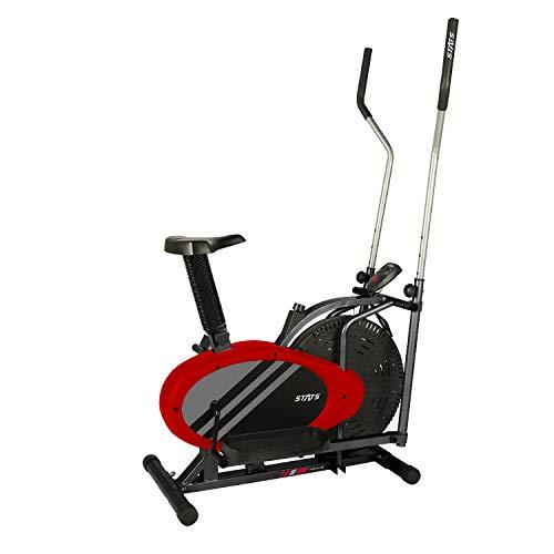 STATS SPORTS Escaladora Elíptica, Multifuncion 2 en 1, Bicicleta Fija con Diseño Trainer SS