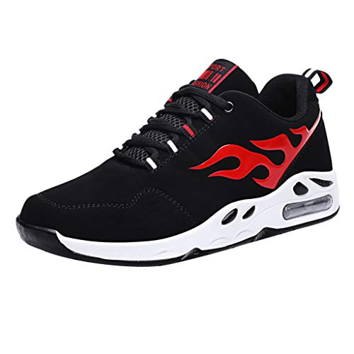 Homme Chaussure de Sport en Plein Air Overmal Baskets Mode Casual Respirantes Poids léger Comfortable Mesh Upper Semelle Souple Antidérapant Lacets Running Shoe Sneakers