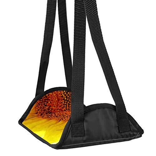 Repose-pieds en forme de tournesol, abeilles, pollen jaune, hélianthe, pour voyage, avion, bureau, repose-pieds, repose-pieds de voyage, accessoires de voyage, hauteur réglable