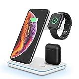Chargeur sans Fil 3 en 1, Station De Chargement sans Fil, pour Apple Watch Series 6/SE/5/4/3/2,...