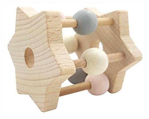Hess-Spielzeug- Hochet étoile en Bois, 11001, Rose