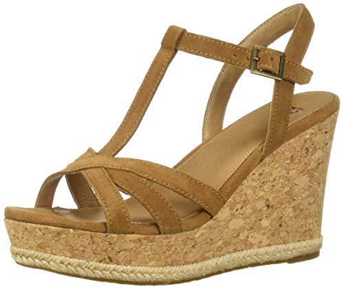 UGG® Damen Melissa Plateau-Schuhe Sandalen Braun 38 EU