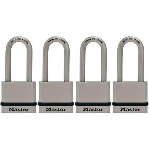 Master Lock M530XQLHCCSEN M530XQLH Magnum Solid Steel Keyed Alike Padlocks, 4 Pack, Assorted, 4 Count