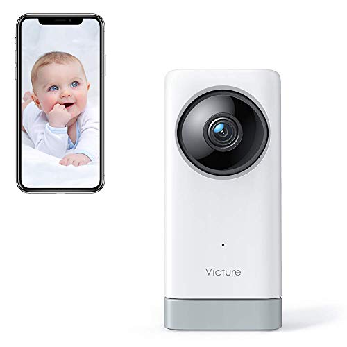 Victure 1080P 2.4G WiFi Camera with Sound & Motion Detection, Wireless Pet Camera Baby Monitor with 2-Way Audio Night Vision, Cloud Service Available