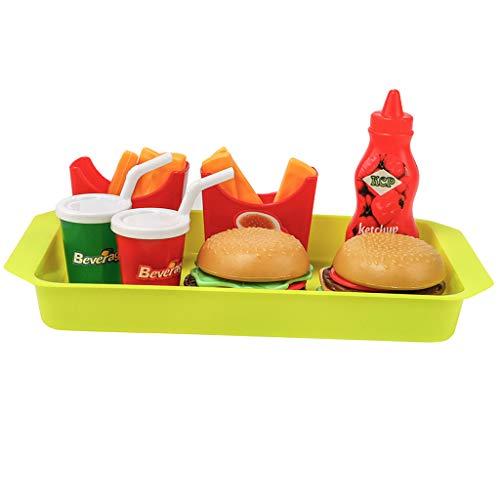 Non brand Sharplace 8 Pezzi Simulazione Cibo Bevande Cucina Giochi Ruolo Bambino Plastica