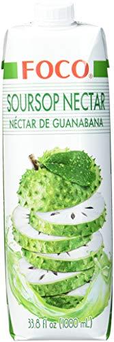 FOCO Soursop, Nektar der Stachelannone, exotischer Geschmack, wohltuender Durstlöscher, erfrischendes Kaltgetränk, vegan, 12 x 1000 ml