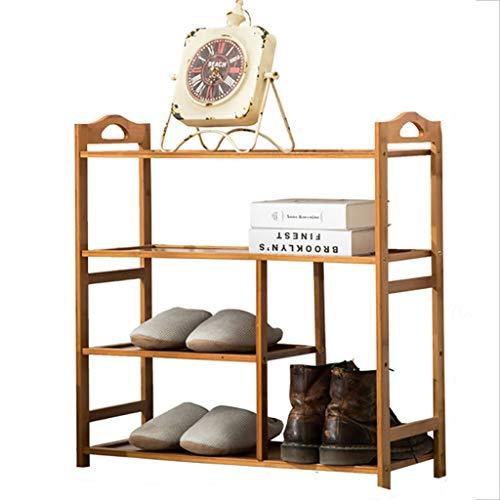 Étagères à chaussures, 4 niveaux de bambou naturel Bench Boot Bench organisateur Rack pour chaussures étagère Titulaire Organisateur de stockage (70/80/90 * 26 * 70 cm) ( taille : 70*26*70CM )