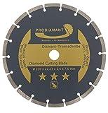PRODIAMANT Diamant-Trennscheibe 230 x 22,2 mm - Beton, Stein, Ziegel, universal 230mm Diamantscheibe 7mm Segment