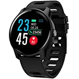 Smart Watch, Fitness Tracker Touch Screen Smartwatch IP68 Waterproof with Heart Rate Monitor
