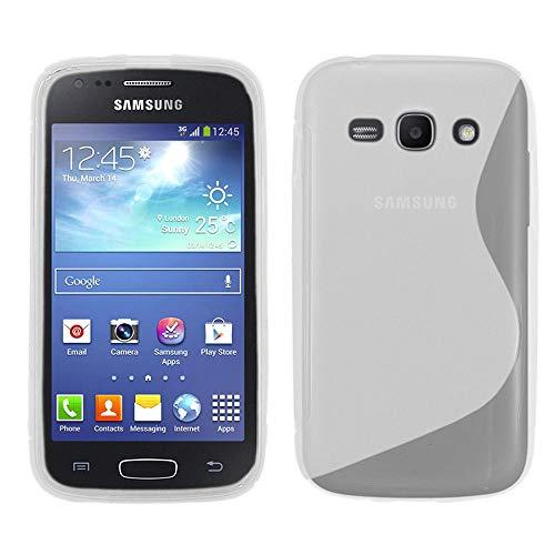 ebestStar - Cover Compatibile con Samsung Ace 3 Galaxy GT-S7270, S7272, S7275 Custodia Protezione S-Line Silicone Gel TPU Morbida e Sottile, Trasparente [Apparecchio: 121.2 x 62.7 x 9.8mm, 4.0'']