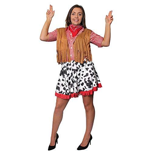 I LOVE FANCY DRESS LTD Disfraz DE Vaquera para Mujer Conjunto TEMATICO para Mujer DE 4 Piezas Fiestas TEMATICAS DE Western O Fiestas DE Grupo (XXL)