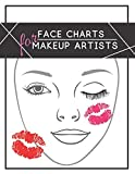 Face charts for makeup artists: Face makeup charts: blank exercise paper for professional and beginner makeup artists.