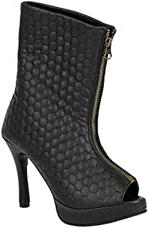 Chalk Studio Black Siddartha Tytler AW14 Quilted Leather Long Boot for Women