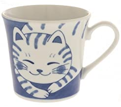 Japanese Ceramic Mug :Affectionate Tabby #113-047
