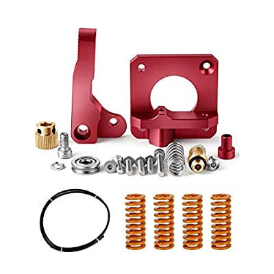 Redrex Upgrading Replacements Aluminum Bowden Extruder,Bowden Tube,Stiff All-Metal Bed Leveling Springs for Ender 3 and CR10 Series 3D Printers